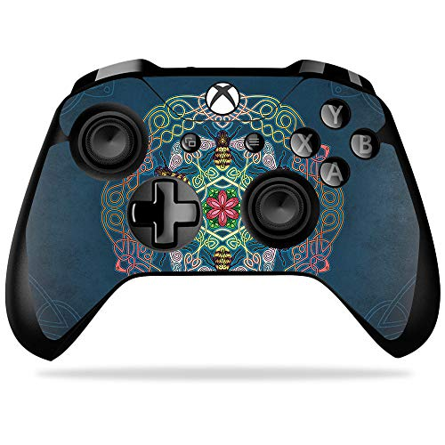 MightySkins Skin Compatible with Microsoft Xbox One X Controller - Celtic Bees   Protective, Durable, and Unique Vinyl Decal wrap Cover   Easy to Apply, Remove, and Change Styles   Made in The USA