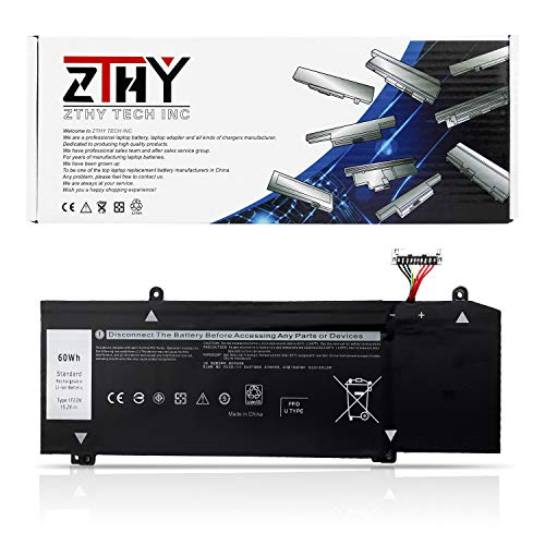 ZTHY New 1F22N Laptop Battery Replacement for Dell Alienware M15 P79F M17 R1 P37E P37E001 Dell G7 7590 G7 7790 G5 5590 5590-D2783W D2743B D2843W Series 0HYWXJ HYWXJ 0JJPFK JJPFK 15.2V 60Wh 4Cell