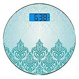 Escala digital de peso corporal de precisión Ronda Decoración turquesa...