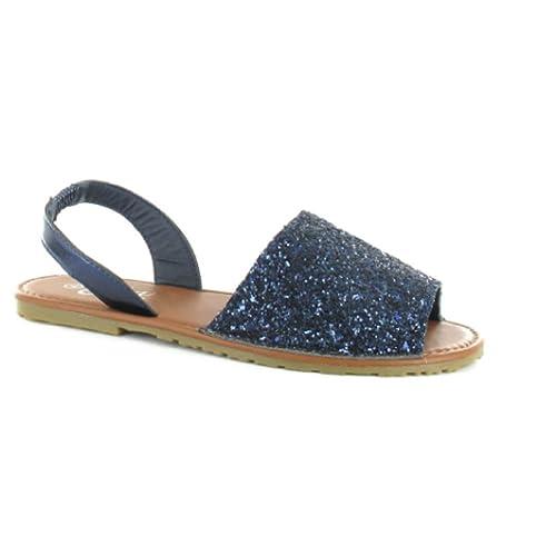f9f52f5c91ef GladRags® Women s Ladies Glitter Sandals Slingback Sizes 3 4 5 6 7 8 Summer  Beach