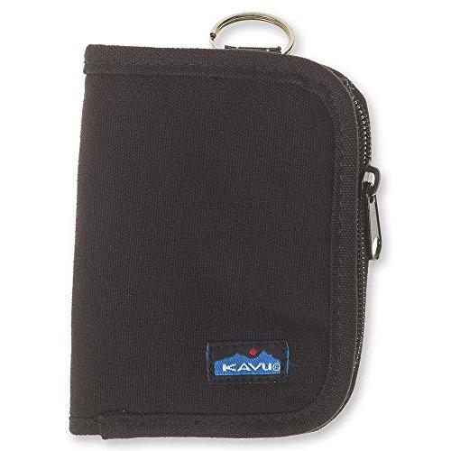 KAVU Zippy Wallet Bi Fold Zip Clutch With Removable Coin Pouch-Black