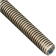 "18-8 Stainless Steel Fully Threaded Rod, 5/16""-18 Thread Size, 24"" Length, Right Hand Threads"