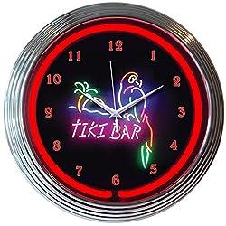 Neonetics 8TIKIX Tiki Bar Neon Clock