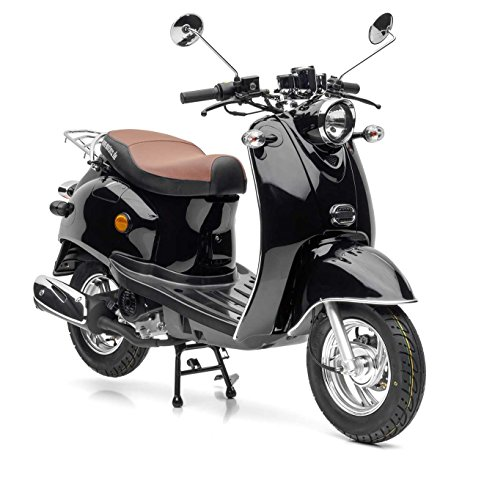 Nova Motors Retro Star ie 50 schwarz Euro 4 - 25km/h Mofa - fahrbereite Lieferung inklusive