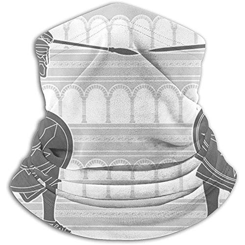 Linger In Two Gladiators Stencil Neck Warmer Neck Gaiter Bandana Sport Bufanda