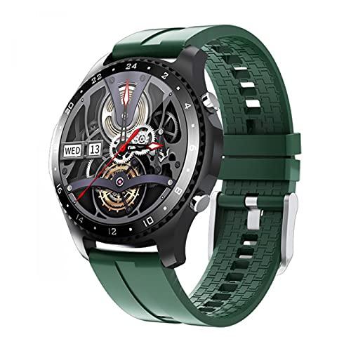 HYK Reloj Inteligente, con Temperatura Corporal, Llamadas Bluetooth, Resistente al Agua IP67, Monitor de frecuencia cardíaca, Monitor de presión Arterial, detección de Spo2, Monitor de sueño(G)