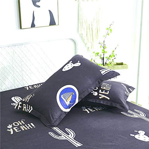 KEPOHK 1/2 Funda de Almohada Estampada de algodón, Funda de Almohada cómoda para Fundas de Almohada de Cama 2 Funda de Almohada heiseyoumo
