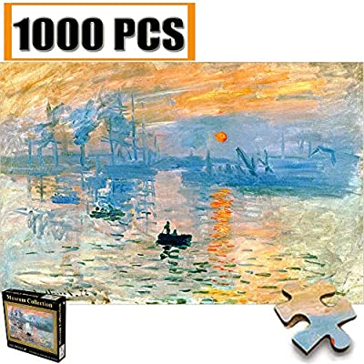 Cool Wall Decal Sticker Vinyl Jigsaw Puzzles 1000 Pieces Vincent Van Gogh Artwork Art for Teen Adult Grown Up Puzzles Large Size Toy Educational Games Gift Jigsaw Puzzle Jigsaw Puzzle 1000 PCS