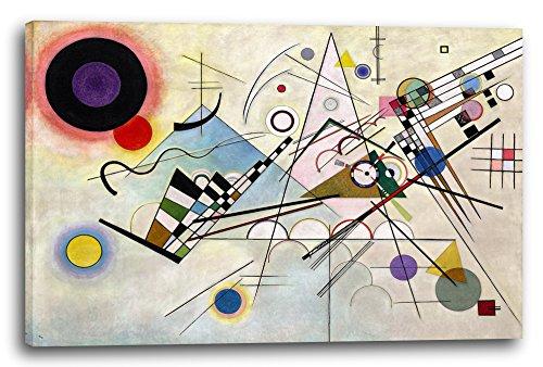 Printed Paintings Leinwand (120x80cm): Wassily Kandinsky - Komposition 8 (1923)