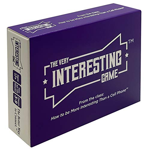 The Very Interesting Game - Fun Card Games to Bust Boredom and Boost Creativity! Funny Conversations for Team Building, Family Game Night with Teens, and Adult Parties! Great for Video Conferences!