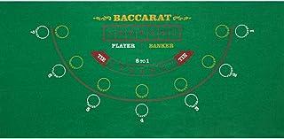 GSE Games & Sports Expert 36x72-Inch Blackjack/Craps/Roulette/Texas Holdem/Baccarat Tabletop Layout Felt. Casino Poker Gam...