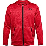 Under Armour Boys' Armour Fleece Full Zip , Red (600)/Black , Youth Large