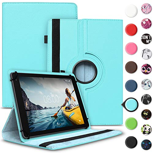 Tablet Hülle kompatibel für Medion Lifetab E6912 Tasche Schutzhülle Hülle Cover aus Kunstleder Standfunktion 360° Drehbar, Farben:Türkis