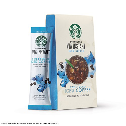 Starbucks VIA Instant Coffee Medium Roast Packets — Sweetened Iced Coffee — 6 boxes (36 packets)