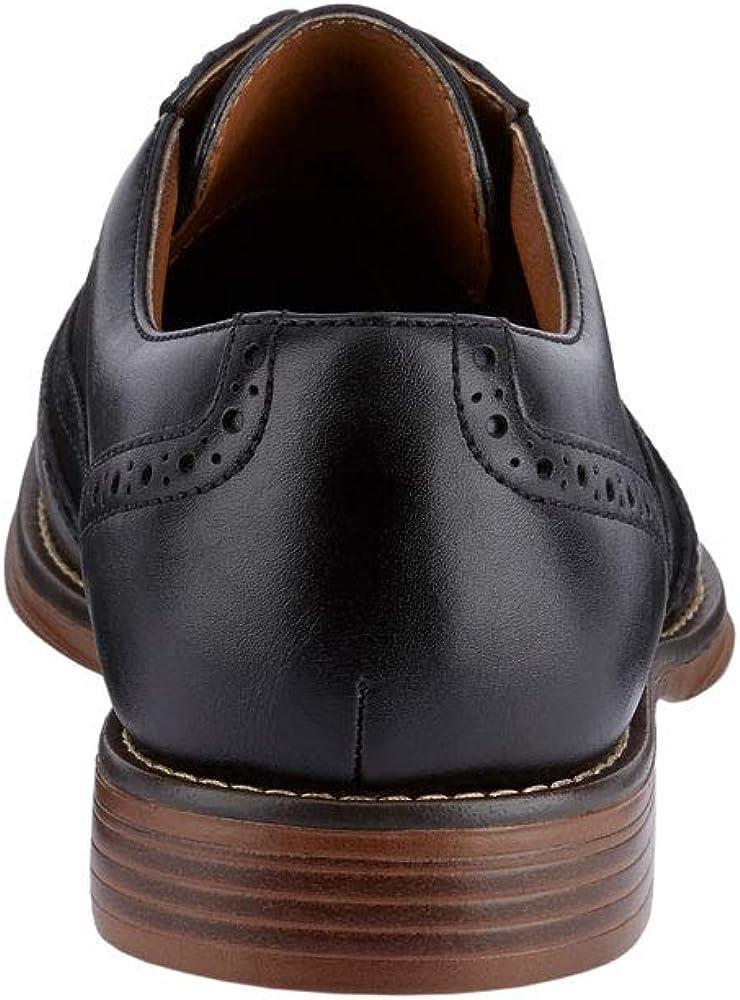Dockers Mens Thatcher Polished Business Dress Black Wingtip Lace-up Oxford Shoe