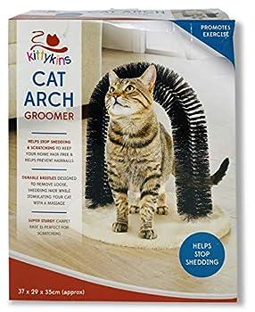 Kittykins Arche de toilettage pour Chat et Chaton avec Herbe à Chat, Jouet de Massage, Brosse à gratter.