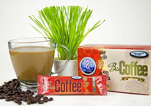 Bio Coffee- NEW! - First Organic Instant Non-dairy Alkaline Coffee (12 Sachet Box)