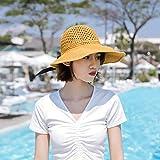 Señoras Verano Plegable chistera vacia Bow Visera Exterior Playa Sombrero Protector Solar