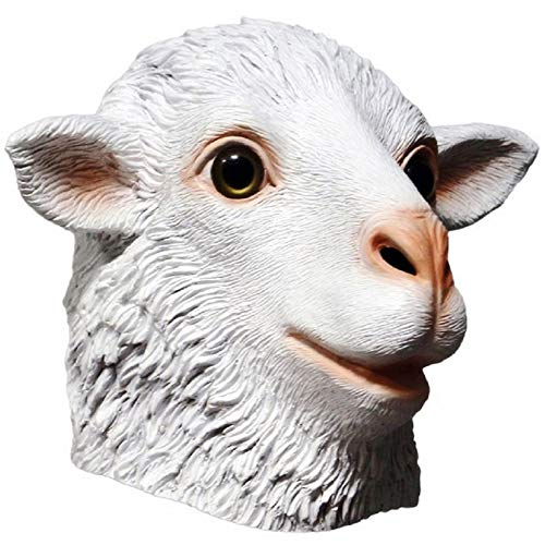 Ram Sheep Animal Latex Mask  Farmyard Rubber Goat Antelope Animal Mask Halloween Costume Masqurade Party Cosplay
