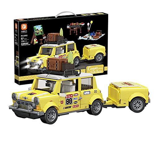Myste Technik Sportwagen Auto, 1546 Klemmbausteine Romantisches Touristen-Picknick-Auto ModellBauset Rennwagen Bausteine Wohnkultur DIY Bausatz Kompatibel mit Lego Technic