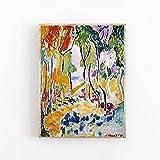 Póster de Henri Matisse - Calidad de galería - Paisaje cerca de Collioure - Decoración de arte de pared - Lienzo decorativo sin marco Q-57 50x70cm