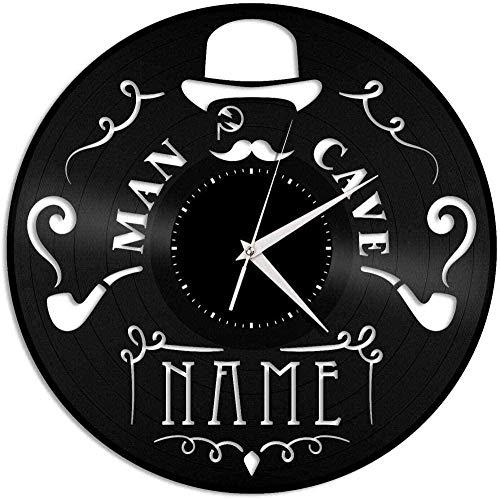 CCGGG Disco de Vinilo Reloj de Pared Gente Cueva Reloj de Pared de Vinilo Amigos decoración de la habitación Familiar 12 Pulgadas
