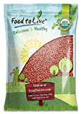 Organic Adzuki Beans, 10 Pounds — Whole Raw Dried Azuki Beans (Red Mung Beans), Non-GMO, Sproutable, Kosher, and Vegan, Bulk Organic Beans. Rich in Minerals, Dietary Fiber and Protein. Perfect for Red Bean Paste, Soups, and Stews.