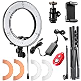 Neewer 12-inch Inner/14-inch Outer LED Ring Light and Light Stand 36W 5500K Lighting