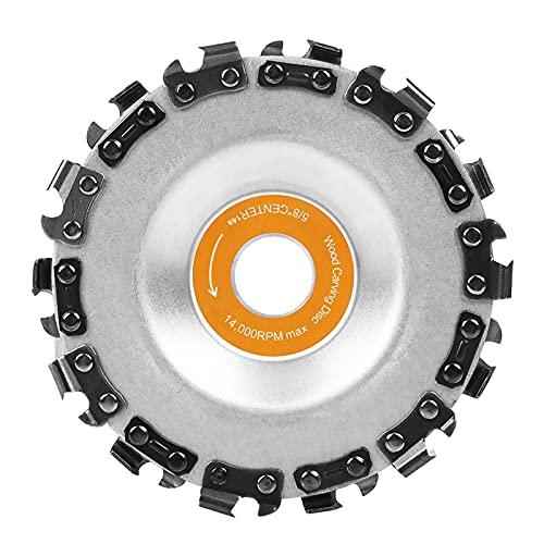 Hoja de sierra circular de madera de 4 pulgadas, disco de corte de talla de madera de 14 dientes, herramienta de modelado de grabado para madera, plásticos, caucho