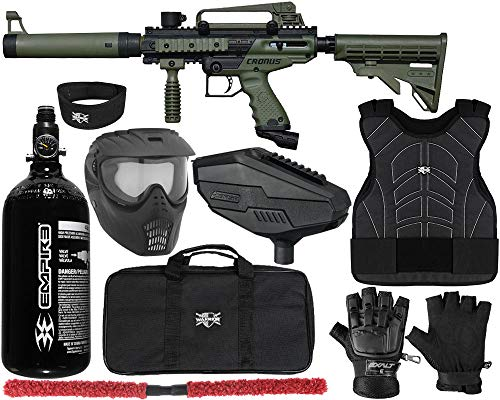 Tippmann Cronus Basic & Tippmann Cronus Tactical Paintball Gun Protector Package Kit 1 (Tactical Olive/Black, Large/X-Large)
