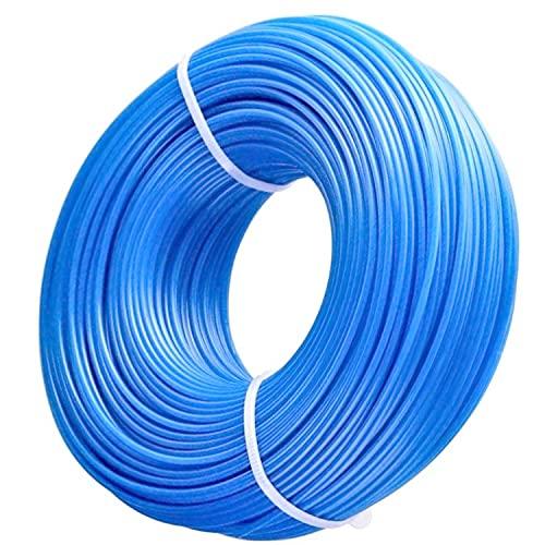 Zeqeey Filo per tagliabordi 1,6mm x 100m in nylon, Filo per decespugliatore tondo, per parco giardino, prato, colore blu