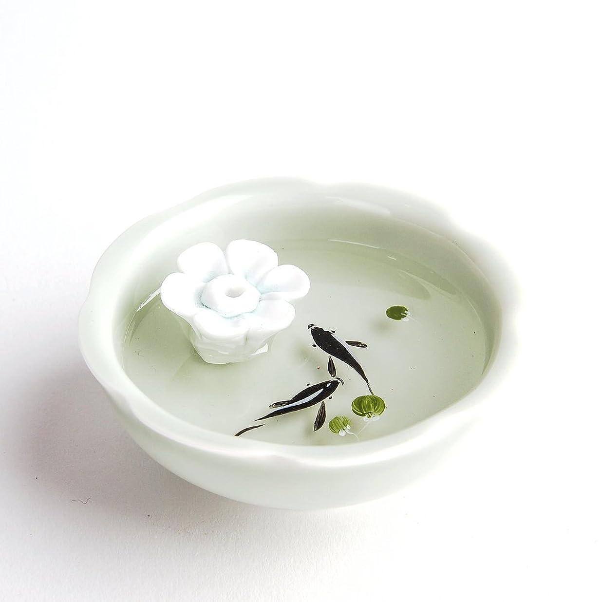 支配的気づかない振動させるお香立て お香たて 香の器 お香を焚いて 香皿,陶磁器、白