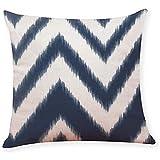 zhengchunleiX Funda de Almohada Pillow Cases,Pillow Covers Dark Blue Geometrict Pillowcases Cushion Home Car Sofa (F)