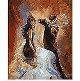 QAZZSF An Der Wand Acrylmalerei Nach Zahlen DIY Gemälde Ölgemälde Geschenk Färbung Geige Spielen Rahmenlos 40x50cm Digitale Malerei