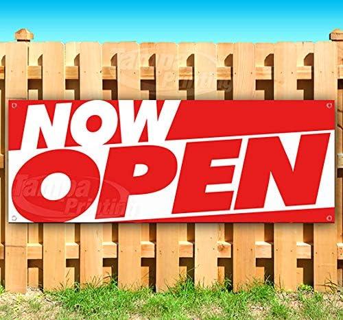 Now Bargain sale Open 13 oz Banner Vinyl Finally resale start Heavy-Duty Single-Sid Non-Fabric