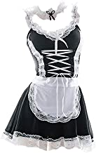 PALOLI Women Cosplay French Apron Maid Servan Lingerie Costume Babydoll Dress