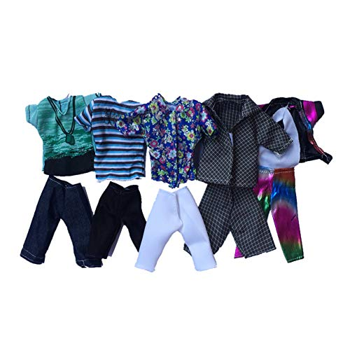 Doll Toy Clothing Summer Sport Fashion Shirts and Shorts for Ken Doll Toy Doll Random Style 5set