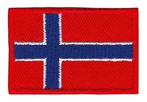 Patch Norwegen Flagge Klein Norway Aufnäher Bügelbild Größe 4,5 x 3,0 cm