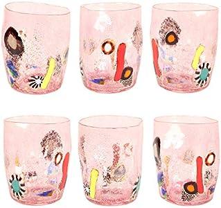 Juego de 6vasos de cristal de Murano. Handmade. Ocasión