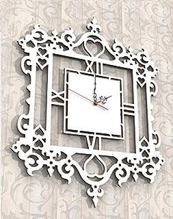 Orologio da parete Design Arredo Shabby country chic Bianco Artigianale