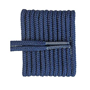 FeetPeople Round Shoe Laces for Boots/Shoes Various Colors and Lengths Navy 40 inches x 1 Pair