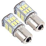 P21w Ba15s 1156 Led Ampoule 12v 24v Feu Recul, 5W DC10-80V Lumière blanc, pour Bateau, RV, Auto Voiture, feux de jours, etc (Lot de 2)