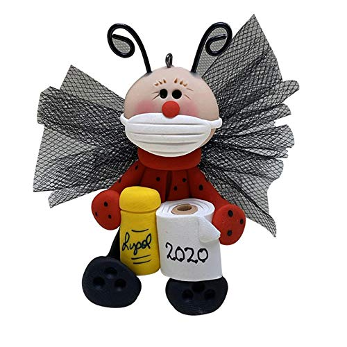 Crazyfly 2020 Adornos de animales, con cubiertas para la cara y sosteniendo papel higiénico, lindo colgante de supervivencia de animales
