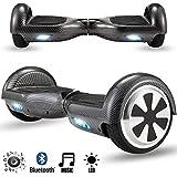 Magic Vida Skateboard Électrique Bluetooth 6.5 Pouces Hip Hop Puissance 700W avec LED Gyropode...