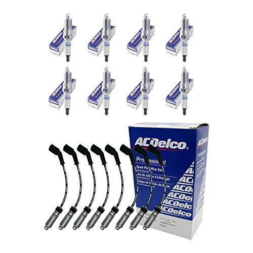 New AD Spark Plug Pack ( 8 OEM Spark Plug Wires 9748HH + 8 OEM Spark Plugs 41962 + 8 Heat Shields...