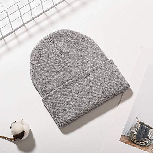 Mütze Normallack-warme Winter-Hüte für Frauen-Mann-Baumwollstrickmütze der Frauen weibliche Skullies-Mütze A