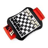 MRlegendary Ajedrez magnético, Juego de ajedrez Plegable, Juego Tradicional Interactivo portátil para Padres e Hijos, Juego de Mesa para Adultos con cajón, Regalos para Adultos y niños