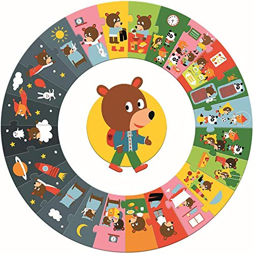 Djeco 07015 Bodenpuzzle Puzzle Der Tag