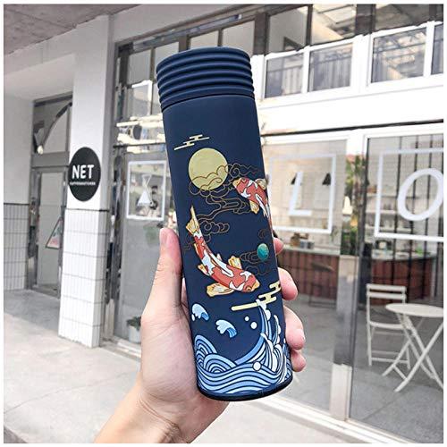 Wgath 450 Ml Chinese Klassieke Stijl Thermosfles Met Filter Roestvrij Staal Thermische Beker Koffiemok Waterfles Melk Travel Thermo Cup B