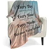 QETXVI Bible Verse Blanket with Inspirational Thoughts and Prayers- Religious Throw Blanket Soft Lightweight Cozy Plush Warm Blankets for Women Men Gift - 40'X 50'